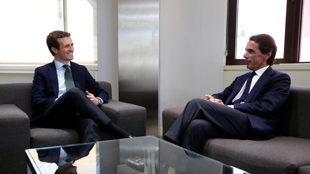 Pablo Casado y José MarIa Aznar